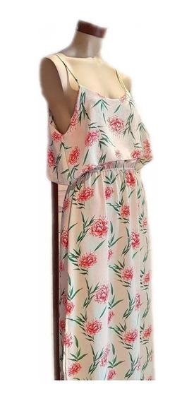Vestido Mujer Largo Con Volado Primavera Verano 2020