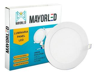 Panel Led Embutir Redondo 12w Luz Fria Spot 220v Mayorled