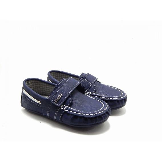 Sapato Mocassim Klin Curumim Dockside Infantil Menino - Azul