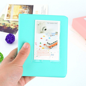 Álbum De Fotos Da Instax Mini 7 8 E 9 Para 64 Fotos - Verde