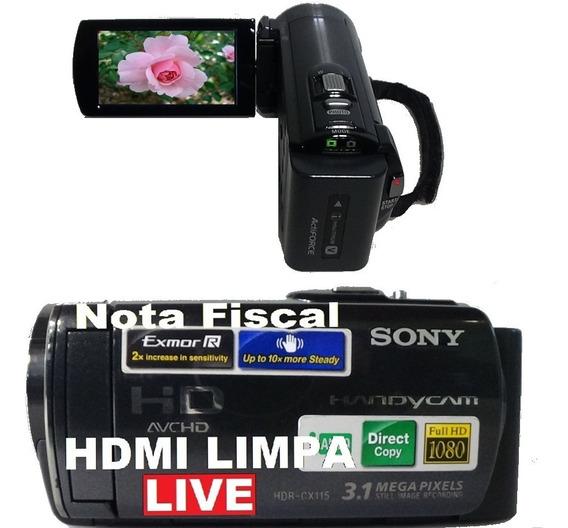 Filmadora Sony Hdr-cx115e Full Hd Hdmi Limpa Live