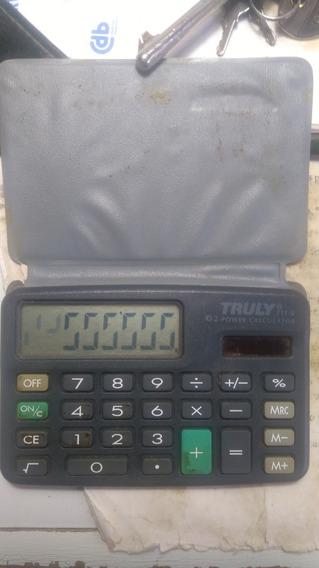 Calculadora Truly Usada Sem Bateria Só Funciona Na Luz Sol