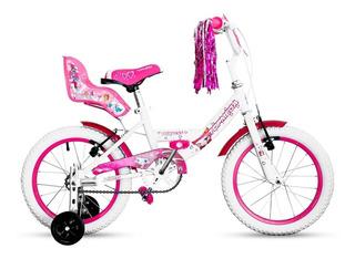 Bicicleta Nena Niña Cross Top Mega Princes R 16 Mc