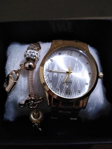 Relógio Feminino Com Pulseira