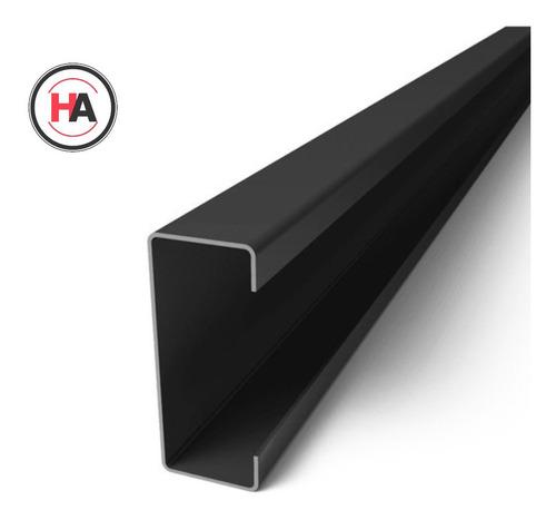 Perfil C De Hierro 100 X 50 X 15 X 2 Mm - Negro - 12 Mts Ha