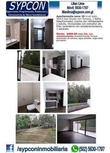 Apartamento Tipo Estudio Con Terraza Zona 10