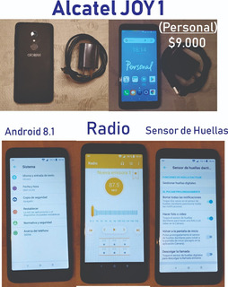 Celular Alcatel Joy 1 Con Radio Y Huella Digital!!!