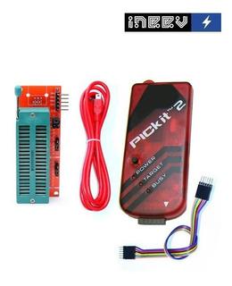Programador Pickit 2 + Cable Usb + Zocalo Zif 40 Pines