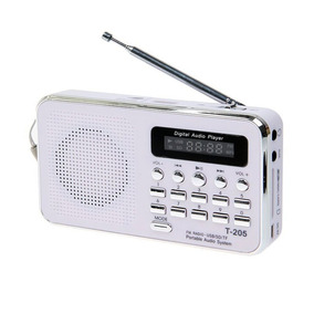 Mini Rádio Receptor Luvin T-205 Fm Cor Branco Frete Grátis