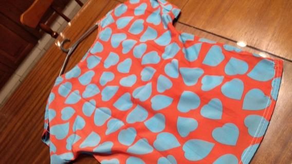 Blusa Importada Corazones Coral T Small