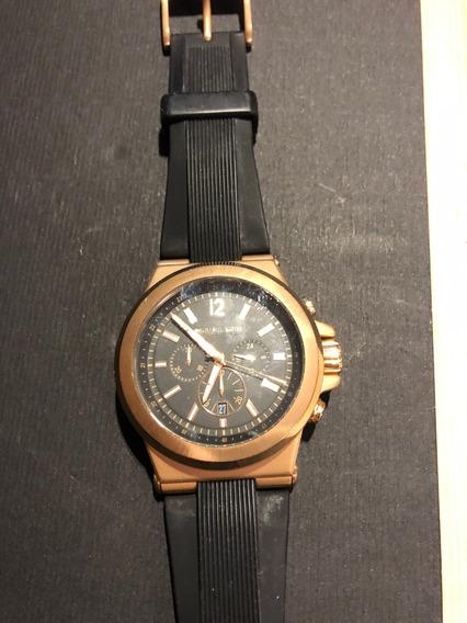 Relógio Michael Kors Original Nk 8184 Preto Rose Unissex