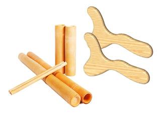 Kit Massagens Modeladora E Redução Bambus + Pantalas