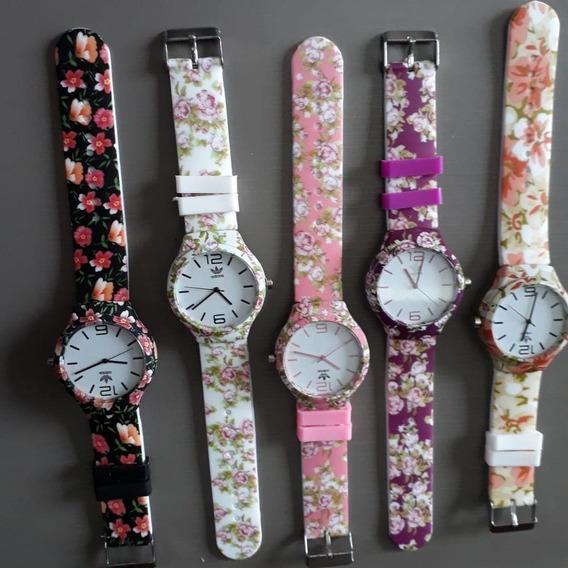 Kit 10 Relógios Floridos Barato Feminino Atacado