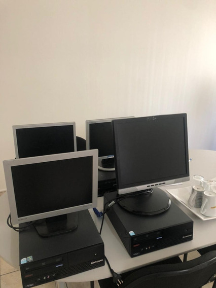 4 Computadores Lenovo Thinker Center Memória 2 Giga