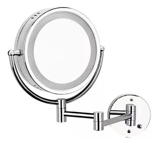 Espejo De Doble Vista Giratorio Con Luz Y Aumento Helvex Es-