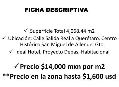 Terreno Centro San Miguel De Allende, Oferta!
