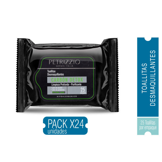 Pack 24 Toallas Desmaquillantes Carbon Petrizzio