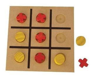 Brinquedos Educativos - Jogo Da Velha Em Madeira 10 Peças