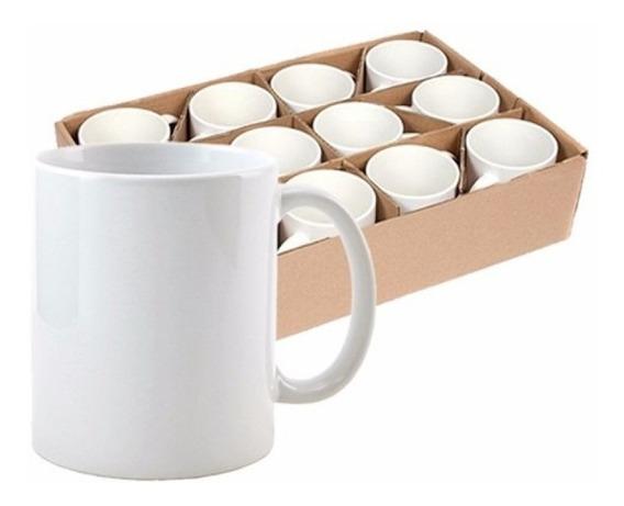 Caneca Ceramica Sublimação Cx 12 Pcs Branca Aaa E Caixinhas