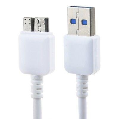 Cable De Sincronización Usb Blanco 3.0 Dc/pc Cargador Cable