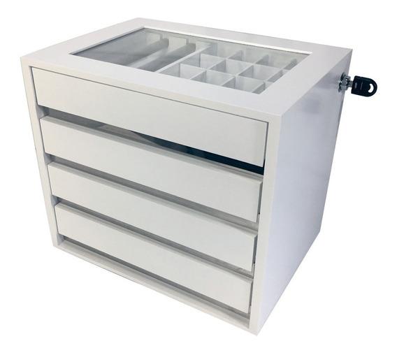 Promoção Gaveteiro Organizador Porta Joias Steel Branco