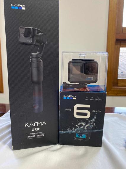 Kit: Gopro Hero 6 Black + Karma Grip + Micro Sd 128gb