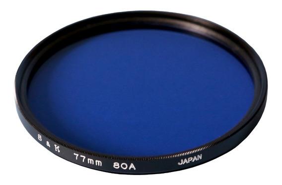 Filtro 80a 77mm S&k Azul Para Lentes Canon Nikon Todas 77mm