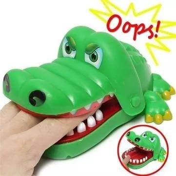 Brinquedo Jogo Crocodilo Jacaré Dentista 16x14x8