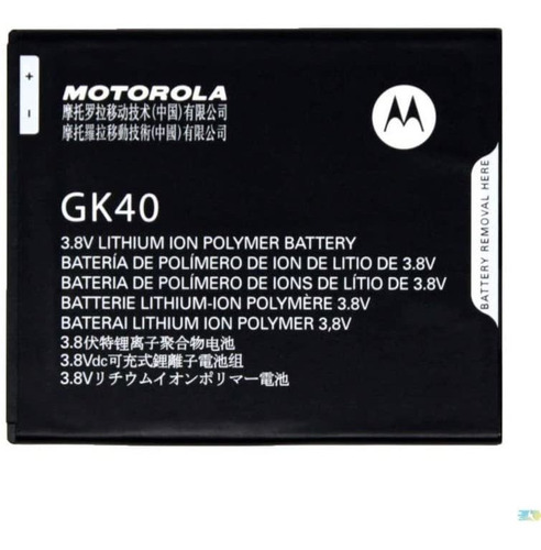 Motorola Gk40 - Bateria De Repuesto Para Cedric Moto E3, Mo