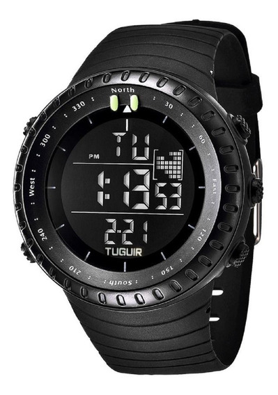 Relógio Led Digital Lux Tuguir Masculino 1705 Digital Preto