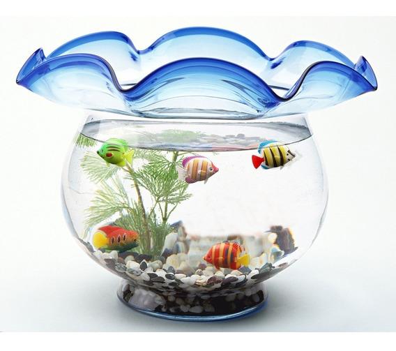 4 Peixe Flutuante Artificial Aquário Ornamento Decoração