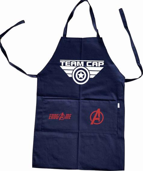 Capitan America Delantal Mandil Team Cap Avengers Endgame