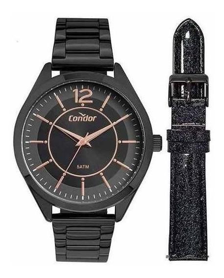 Relógio Feminino Condor Co2035mux/4p Kit Pulseira