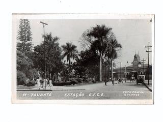 Cartao Postal Fotografico E. F. Central Do Brasil Taubaté Sp