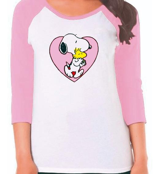 Playera Snoopy En Corazón
