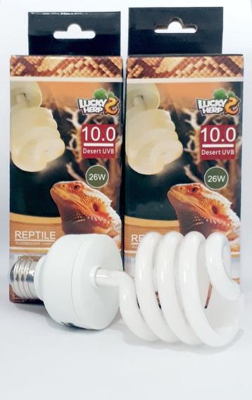 Lampada Uva/uvb Lucky Herp 10.0 26w Repteis Deserticos 220v