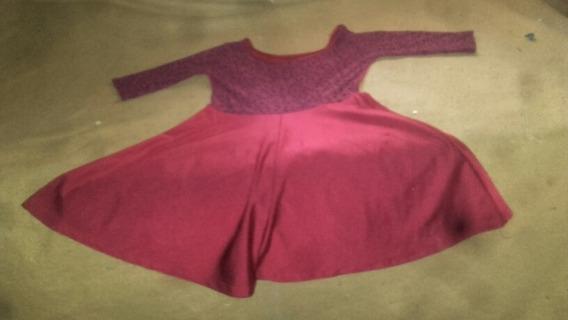 Vestido Color Bordo Talle 2