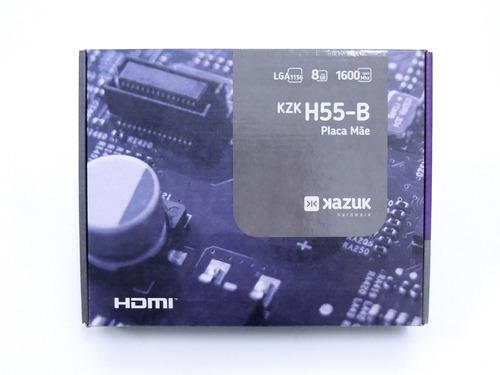 Placa Mãe Kazuk Lga 1156 H55 Ddr3 8gb Hdmi - Kzkh55-b