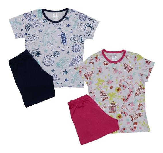 Kit 4 Pijamas Femininos Masculinos Infantil Revenda Atacado