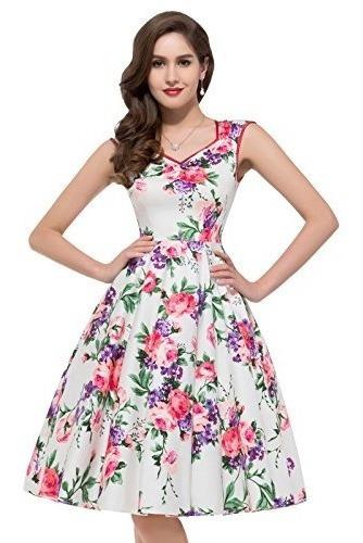 Vestido De Novia Vintage De Flores Con Hombros Plisados