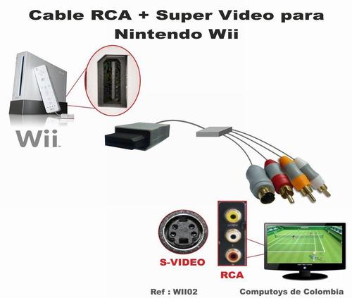 Imagen 1 de 6 de Zwii02 Conecte Wii A Tv Rca Compuesto Qwii02q Compu-toys