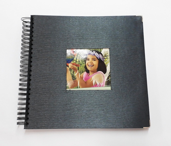 Álbum Scrapbook Caderno De Assinatura Foto C/ Janela 33x32
