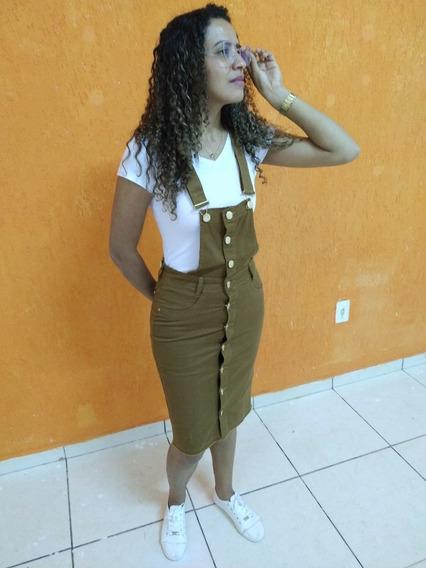 Salopete Jardienira Jeans Moda Femenina Moda Evangelica