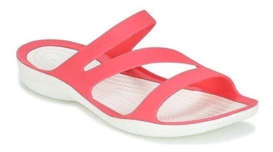Sandalias Crocs Swiftwater Sandal W Pink White Envios