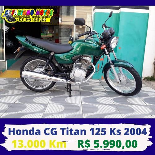 -honda Cg Titan 125 Ks 2004 Verde Novíssima!!!