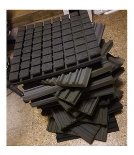 Paneles Acusticos Por Lote De 14 Placas 40x40 + Cortes P Mic