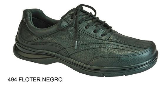 Zapato Hombre Clasico Cuero Base Febo Cosida Careva 494 Negr