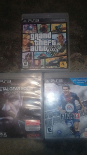 Juegos Ps3 Gta V Metal Gear Solid Fifa 13
