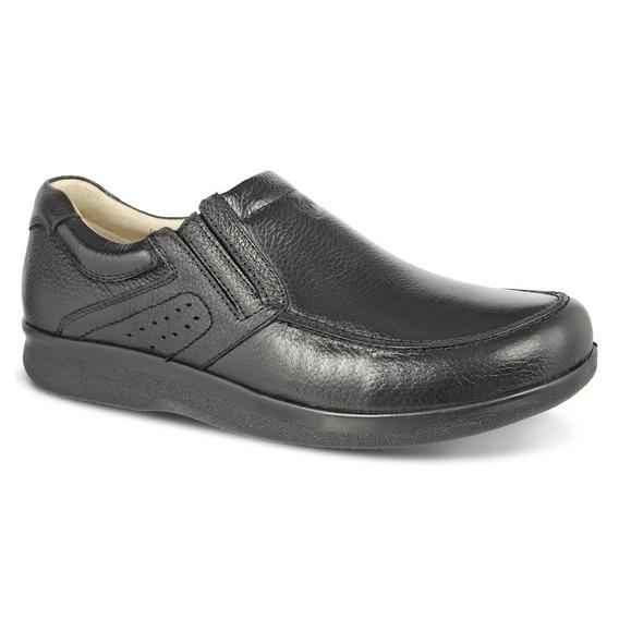 Sapato Masculino 3051 Em Couro Legítimo Floater Preto Doctor