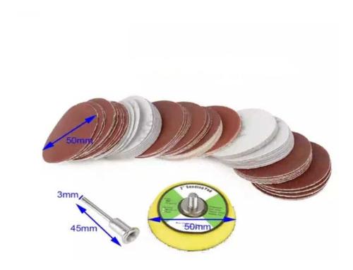 Imagen 1 de 4 de Set De Lijas Con Velcro De 2  Para Dremel